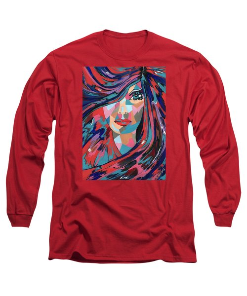 Long Sleeve T-Shirt featuring the painting Psychedelic Jane by Kathleen Sartoris
