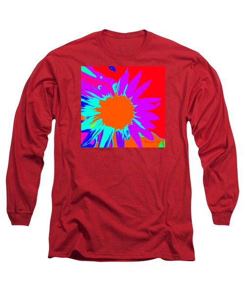 Psychedelic Sunflower Long Sleeve T-Shirt