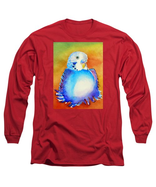 Pudgy Budgie Long Sleeve T-Shirt by Patricia Piffath