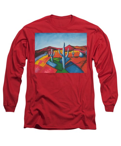 Long Sleeve T-Shirt featuring the painting Pueblo by Antonio Romero