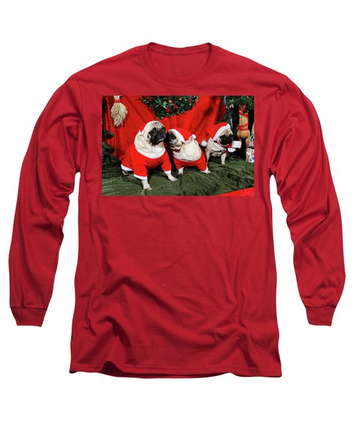 Pugs Dressed As Father-christmas Long Sleeve T-Shirt