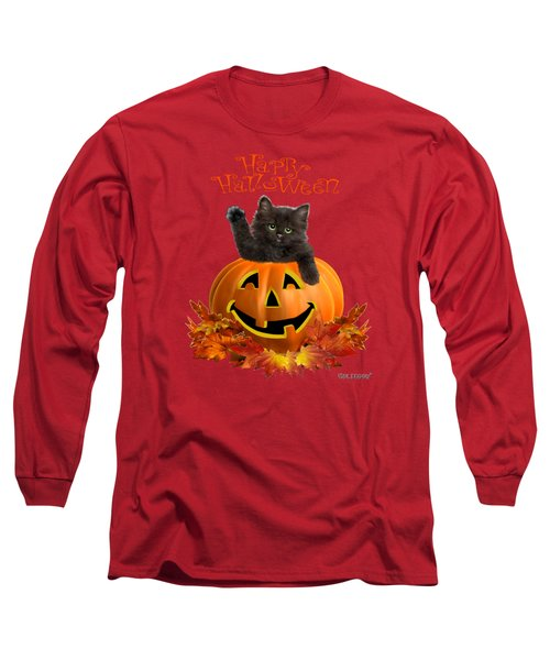 Pumpkin Kitty Long Sleeve T-Shirt by Glenn Holbrook