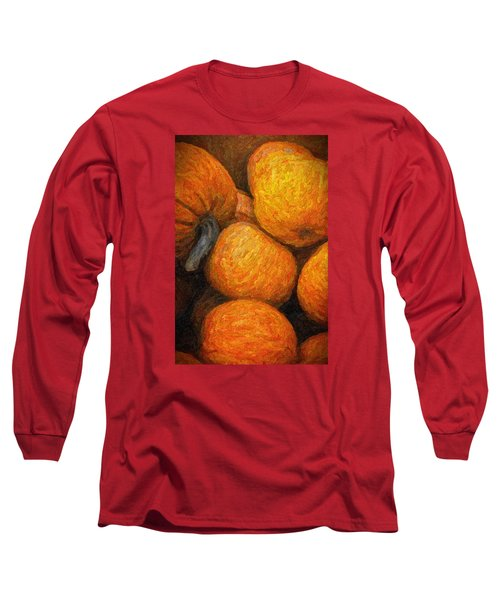 Long Sleeve T-Shirt featuring the photograph Pumpkins In A Box by Tom Singleton