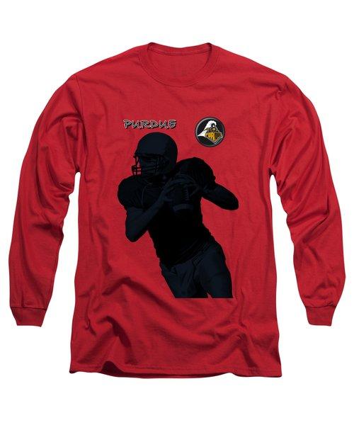 Purdue Football Long Sleeve T-Shirt by David Dehner