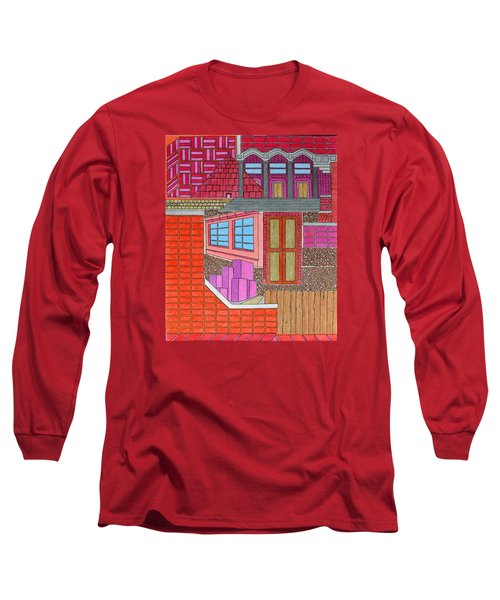 Purple Buildings Long Sleeve T-Shirt