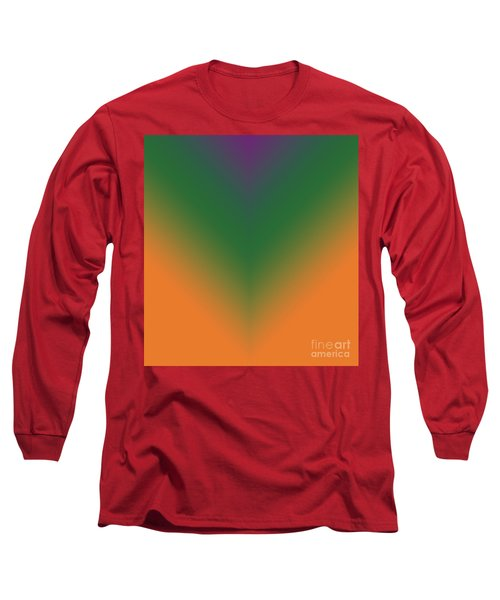 Purple, Green And Orange Long Sleeve T-Shirt