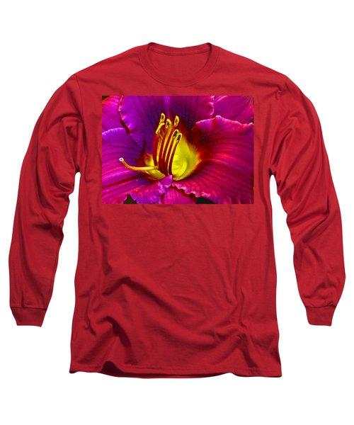 Long Sleeve T-Shirt featuring the photograph Purple Lily by Bill Barber