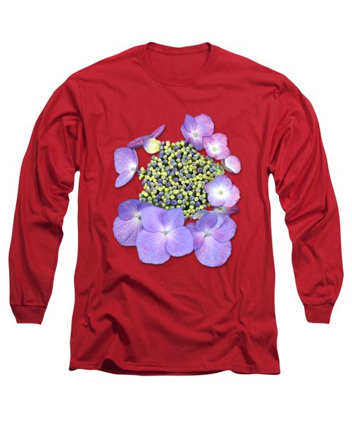 Purple Pods Sehemu Mbili Unyenyekevu Long Sleeve T-Shirt by Bob Slitzan