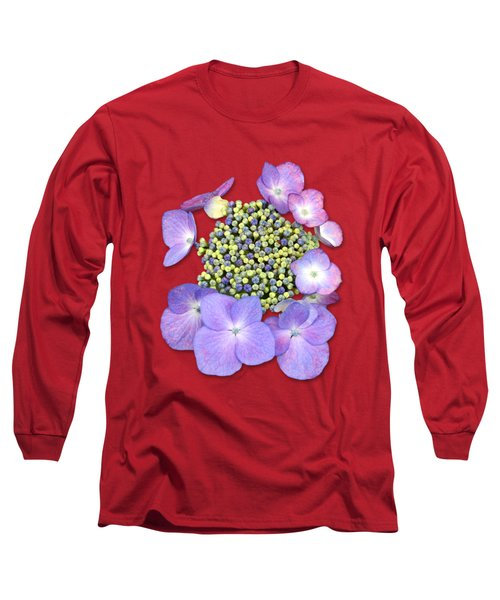 Purple Pods Sehemu Mbili Unyenyekevu Long Sleeve T-Shirt