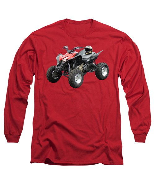 Quad Bike And Helmet Long Sleeve T-Shirt
