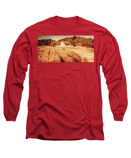 Quaint Country Cottage Long Sleeve T-Shirt