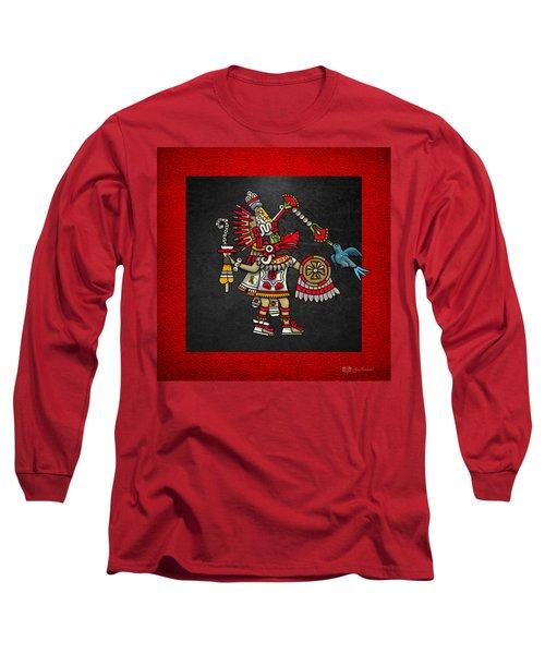 Quetzalcoatl - Codex Magliabechiano Long Sleeve T-Shirt by Serge Averbukh