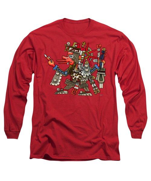 Quetzalcoatl In Human Warrior Form - Codex Borgia Long Sleeve T-Shirt
