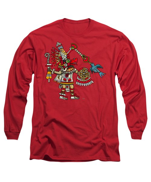 Quetzalcoatl In Human Warrior Form - Codex Magliabechiano Long Sleeve T-Shirt by Serge Averbukh