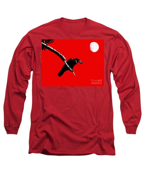 Quoth The Raven Nevermore . Red Long Sleeve T-Shirt