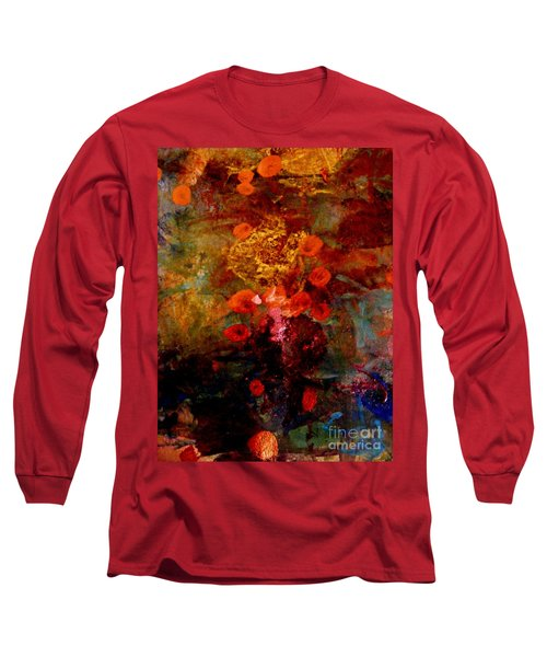 Radiant Red Long Sleeve T-Shirt by Nancy Kane Chapman