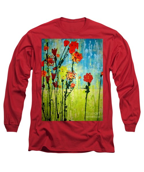 Long Sleeve T-Shirt featuring the painting Rain Or Shine by Ashley Price