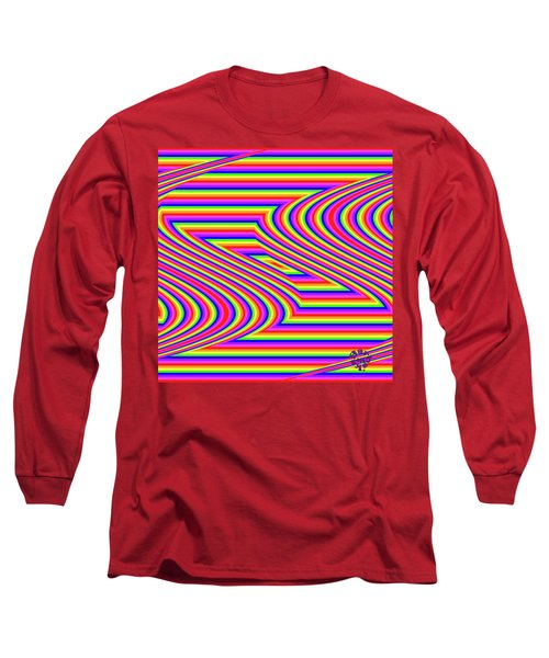 Long Sleeve T-Shirt featuring the digital art Rainbow #5 by Barbara Tristan