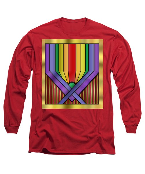 Long Sleeve T-Shirt featuring the digital art Rainbow Base Transparent by Chuck Staley