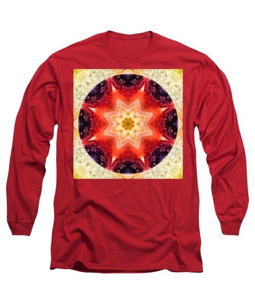 Rainbow Burst Mandala Long Sleeve T-Shirt