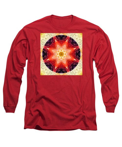Rainbow Burst Mandala Long Sleeve T-Shirt