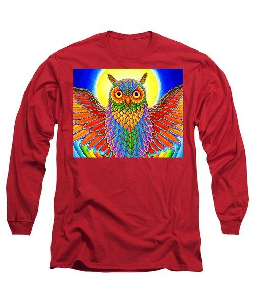 Rainbow Owl Long Sleeve T-Shirt
