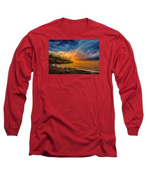 Rainbow Point Long Sleeve T-Shirt by Rikk Flohr