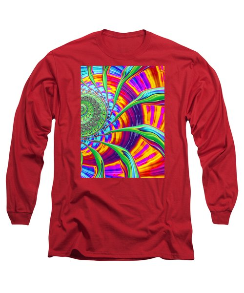Rainbow Sun Long Sleeve T-Shirt by Ronda Broatch