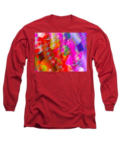 Long Sleeve T-Shirt featuring the digital art Rainy Day Girl by Robert Orinski