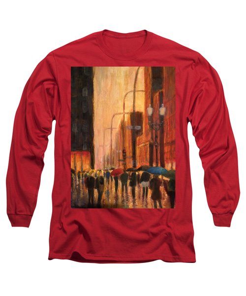 Rainy Evening Chicago Long Sleeve T-Shirt