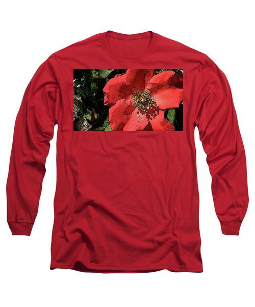 Long Sleeve T-Shirt featuring the photograph Rambling Rose by Donna G Smith