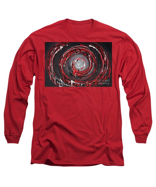 Raspberry Swirls Long Sleeve T-Shirt