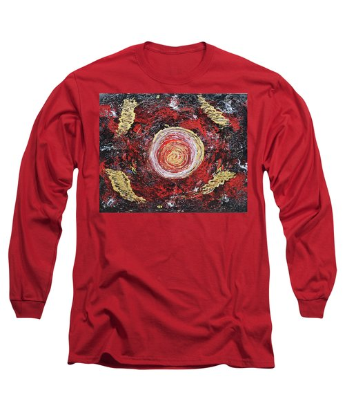 Raw Harmony Red And Gold Art Long Sleeve T-Shirt