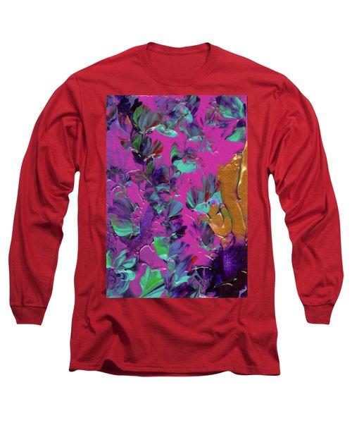Razberry Ocean Of Butterflies Long Sleeve T-Shirt