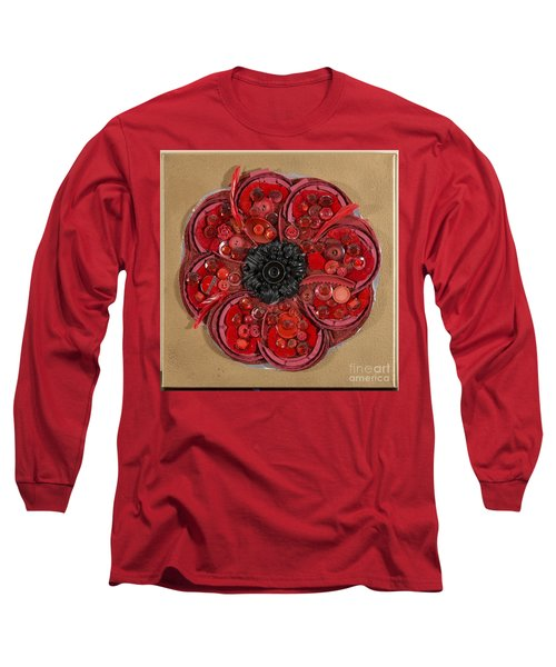Recycled Poppy Long Sleeve T-Shirt