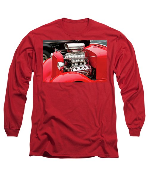 Long Sleeve T-Shirt featuring the photograph Red 1992 by Guy Whiteley