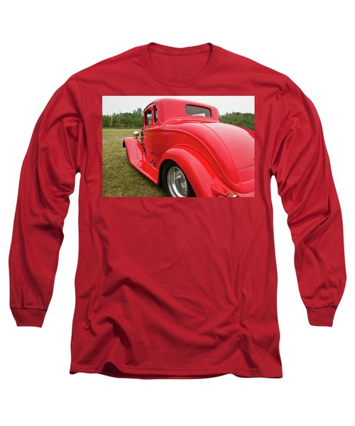 Long Sleeve T-Shirt featuring the photograph Red 1994 by Guy Whiteley