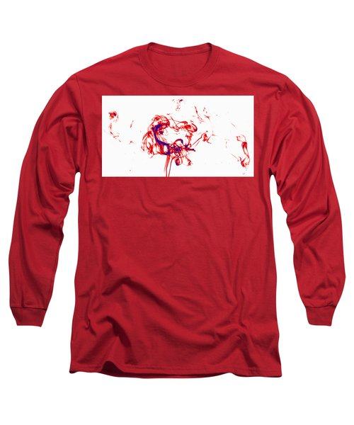 Red And Blue Twirrl Long Sleeve T-Shirt by Rainer Kersten