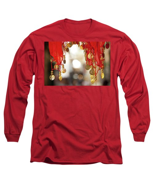 Red And Gold Entrance To Market Long Sleeve T-Shirt by Yoel Koskas