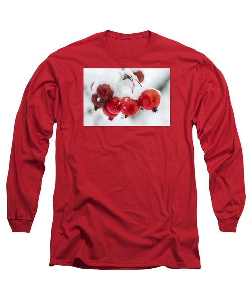 Long Sleeve T-Shirt featuring the photograph Red And White by Sebastian Musial