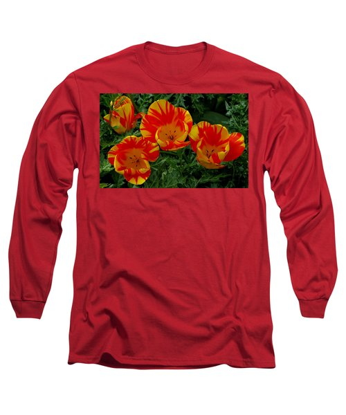 Red And Yellow Flower Long Sleeve T-Shirt