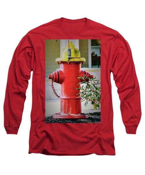 Red And Yellow Hydrant Long Sleeve T-Shirt