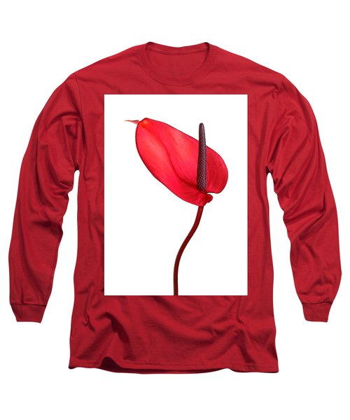Red Anthrium Long Sleeve T-Shirt