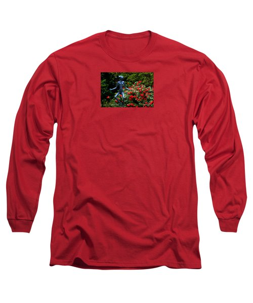 Long Sleeve T-Shirt featuring the photograph Red Azalea Lady by Susanne Van Hulst