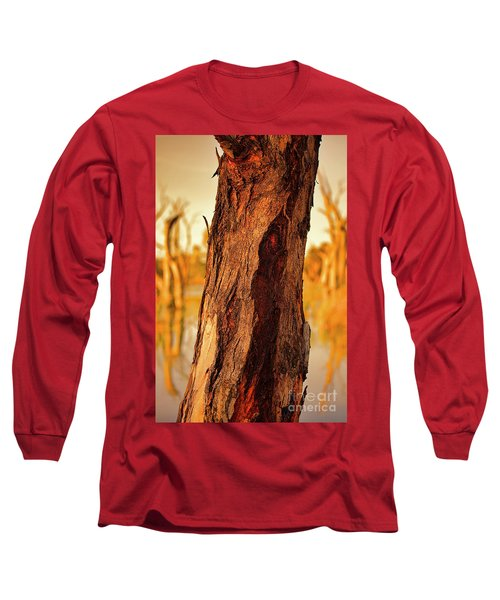 Red Bark Long Sleeve T-Shirt by Douglas Barnard