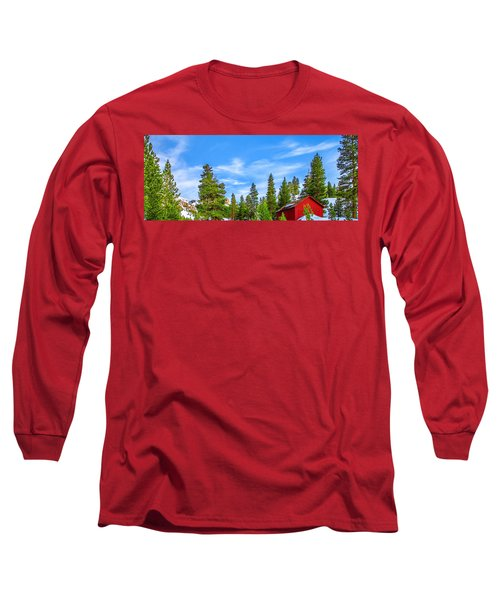 Red Barn On A Hill Long Sleeve T-Shirt