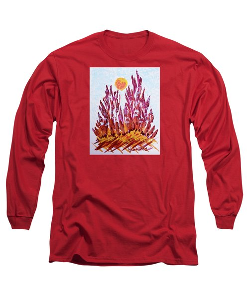 Red Beauties In The Garden Long Sleeve T-Shirt