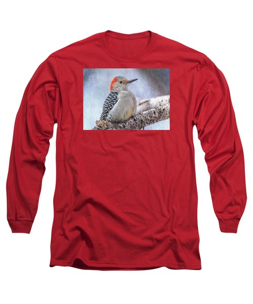 Red-bellied Woodpecker Long Sleeve T-Shirt by Patti Deters