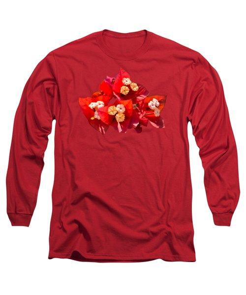 Red Bougainvillea  Long Sleeve T-Shirt