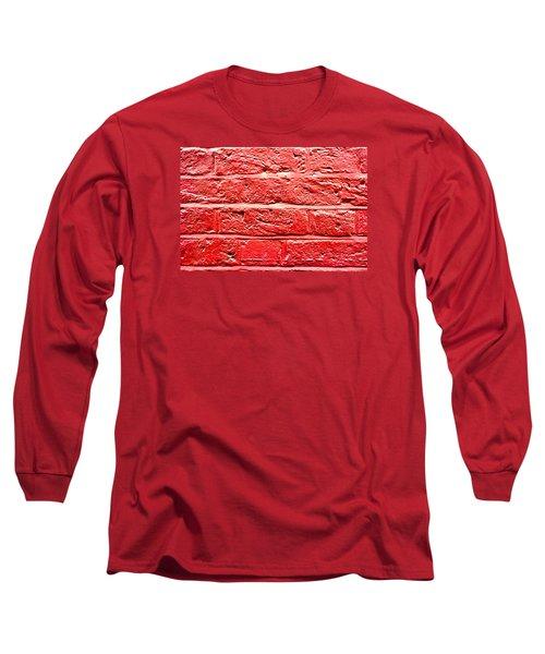 Red Brick Wall Long Sleeve T-Shirt
